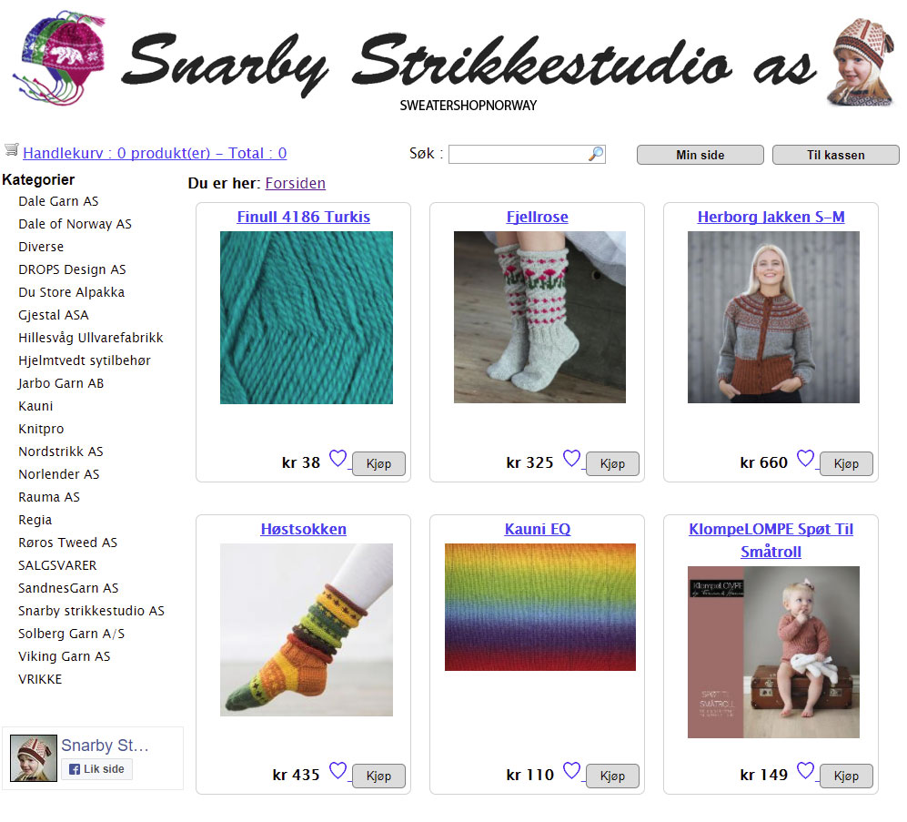 Snarby Strikkestudio screenshot